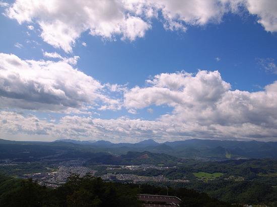 藻岩山山頂から南方面