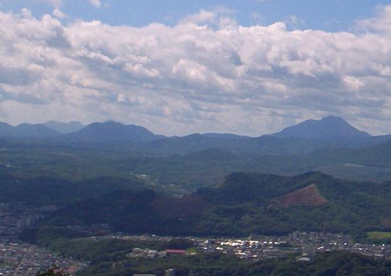 恵庭岳ズーム